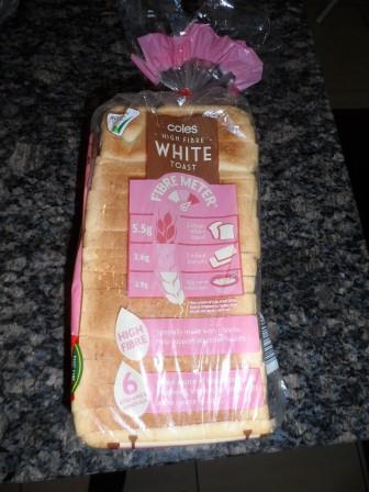 coles white toast
